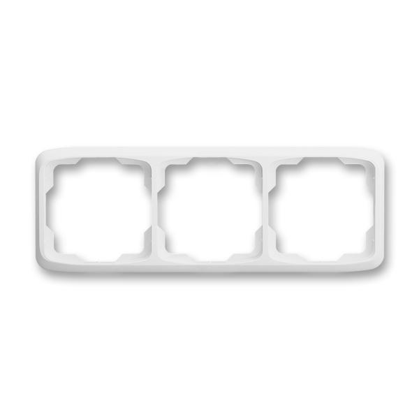 Rámček pre elektroinštalačné prístroje, troj násobný vodorovný, Tango®, biela