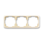Rámček pre elektroinštalačné prístroje, troj násobný vodorovný, Tango®, slonová kosť