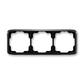 Rámček pre elektroinštalačné prístroje, troj násobný vodorovný, Tango®, čierna