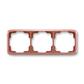 Rámček pre elektroinštalačné prístroje, troj násobný vodorovný, Tango®, vresová červená