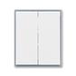 Kryt spínača kolískového delený, Element®, biela / ľadová šedá