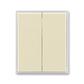 Kryt spínača kolískového delený, Element®, slonová kosť / ľadová biela