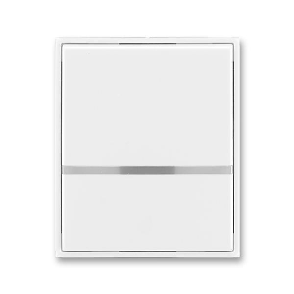 Kryt spínača kolískového s čírym priezorom, Element®, Time®, biela / biela