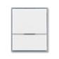 Kryt spínača kolískového s čírym priezorom, Element®, biela / ľadová šedá