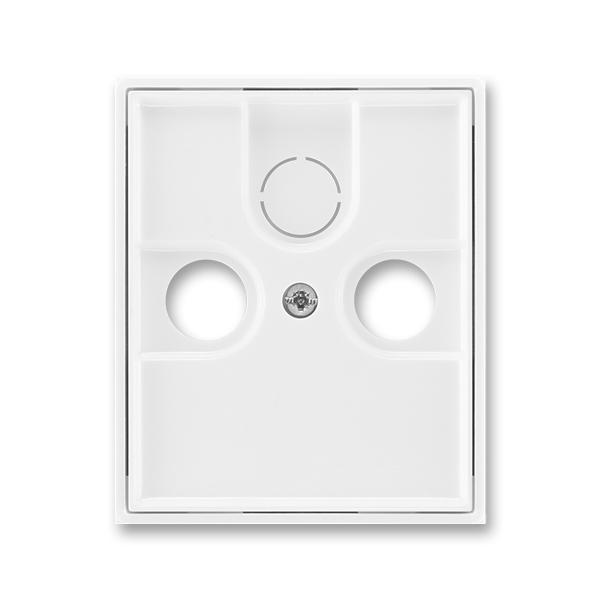 Kryt zásuvky anténnej, s vylamovacím otvorom, Element®, Time®, biela / biela