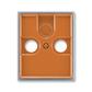 Kryt zásuvky anténnej, s vylamovacím otvorom, Element®, karamelová / ľadová šedá