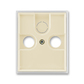 Kryt zásuvky anténnej, s vylamovacím otvorom, Element®, slonová kosť / ľadová biela