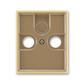 Kryt zásuvky anténnej, s vylamovacím otvorom, Element®, kávová / ľadová opálová