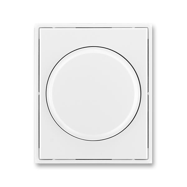 Kryt stmievača s otočným ovládačom, s upevňovacou maticou, Element®, Time®, biela / biela