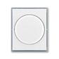 Kryt stmievača s otočným ovládačom, s upevňovacou maticou, Element®, biela / ľadová šedá