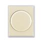 Kryt stmievača s otočným ovládačom, s upevňovacou maticou, Element®, slonová kosť / ľadová biela