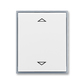 Kryt spínača žalúziového s krátkocestným ovládačom, s potlačou, Element®, biela / ľadová šedá