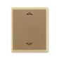 Kryt spínača žalúziového s krátkocestným ovládačom, s potlačou, Element®, kávová / ľadová opálová