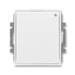 Spínač s krátkocestným ovládačom, s přijímačom rádiofrekvenčného (RF) signálu, Element®, Time®, biela / biela