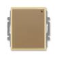 Spínač s krátkocestným ovládačom, s přijímačom rádiofrekvenčného (RF) signálu, Element®, kávová / ľadová opálová