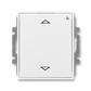 Spínač žalúziový s krátkocestným ovládačom, s prijímačom rádiofrekvenčného (RF) signálu, Element®, Time®, biela / biela