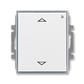 Spínač žalúziový s krátkocestným ovládačom, s prijímačom rádiofrekvenčného (RF) signálu, Element®, biela / ľadová šedá