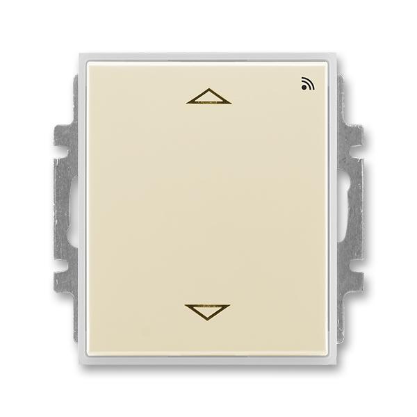 Spínač žalúziový s krátkocestným ovládačom, s prijímačom rádiofrekvenčného (RF) signálu, Element®, slonová kosť / ľadová biela