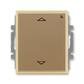 Spínač žalúziový s krátkocestným ovládačom, s prijímačom rádiofrekvenčného (RF) signálu, Element®, kávová / ľadová opálová