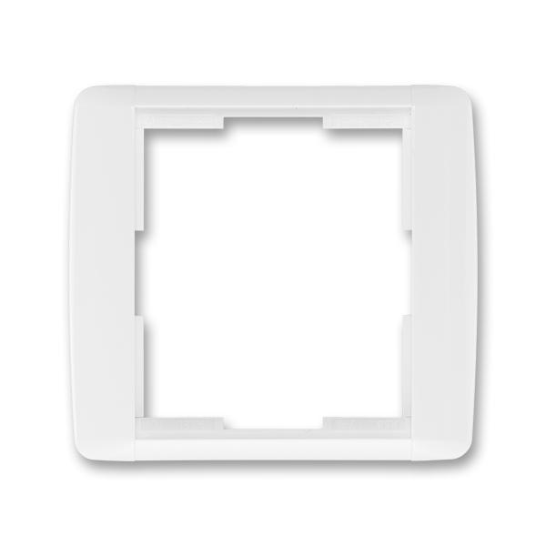 Rámček pre elektroinstalačné prístroje, jedno násobný, Element®, biela / biela