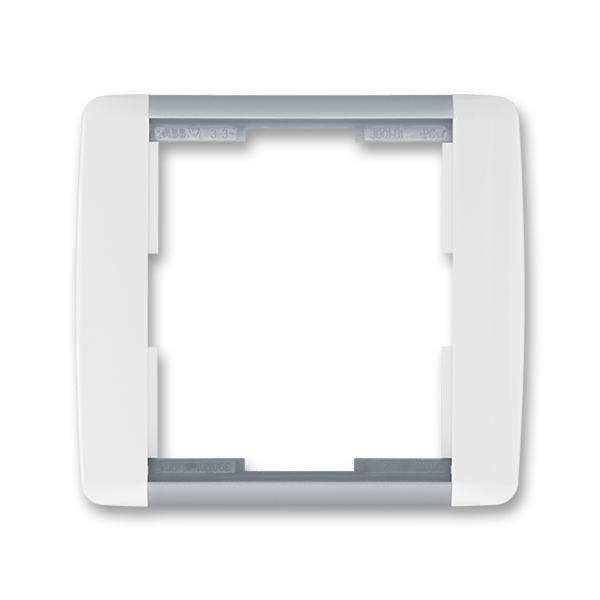 Rámček pre elektroinstalačné prístroje, jedno násobný, Element®, biela / ľadová šedá