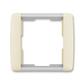 Rámček pre elektroinstalačné prístroje, jedno násobný, Element®, slonová kosť / ľadová biela