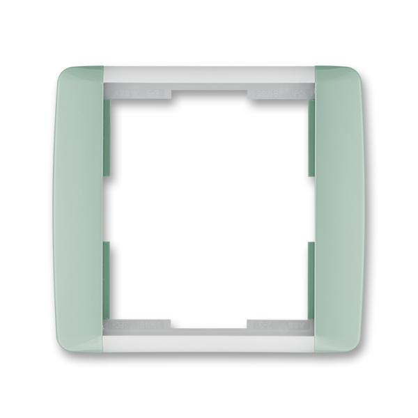 Rámček pre elektroinstalačné prístroje, jedno násobný, Element®, agáve / ľadová biela