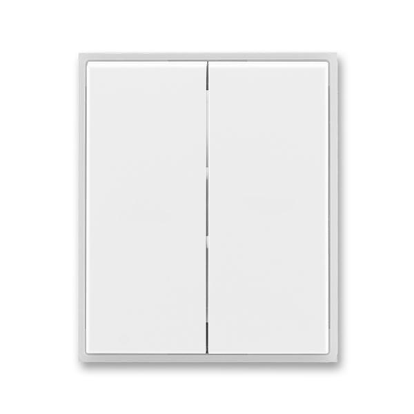 Kryt spínača kolískového delený, Time®, Element®, biela / ľadová biela