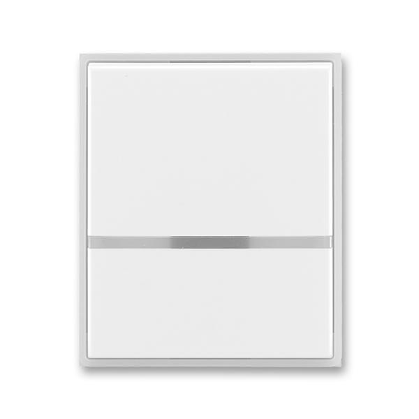 Kryt spínača kolískového s čírym priezorom, Time®, Element®, biela / ľadová biela