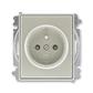 Zásuvka jednonásobná s ochranným kolíkom, s clonkami, Time®, Time® Arbo, starostrieborná