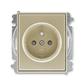 Zásuvka jednonásobná s ochranným kolíkom, s clonkami, Time®, Time® Arbo, šampanská