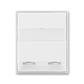 Kryt zásuvky ISDN s 2 otvormi, Time®, Element®, biela / ľadová biela