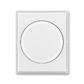 Kryt stmievača s otočným ovládačom, s upevňovacou maticou, Time®, Element®, biela / ľadová biela