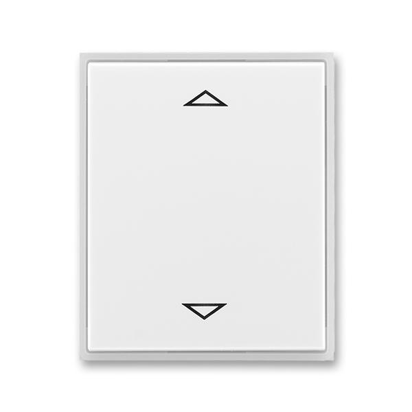 Kryt spínača žalúziového s krátkocestným ovládačom, s potlačou, Time®, Element®, biela / ľadová biela