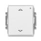 Spínač žalúziový s krátkocestným ovládačom, s prijímačom rádiofrekvenčného (RF) signálu, Time®, Element®, biela / ľadová biela