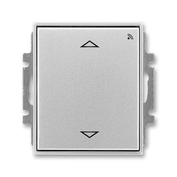 Spínač žalúziový s krátkocestným ovládačom, s prijímačom rádiofrekvenčného (RF) signálu, Time®, Time® Arbo, titánová
