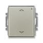 Spínač žalúziový s krátkocestným ovládačom, s prijímačom rádiofrekvenčného (RF) signálu, Time®, Time® Arbo, starostrieborná