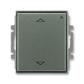 Spínač žalúziový s krátkocestným ovládačom, s prijímačom rádiofrekvenčného (RF) signálu, Time®, Time® Arbo, antracitová