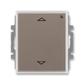 Spínač žalúziový s krátkocestným ovládačom, s prijímačom rádiofrekvenčného (RF) signálu, Time®, lungo / mliečna biela