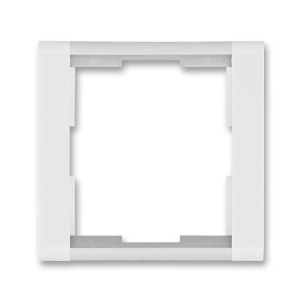 Rámček pre elektroinstalačné prístroje, jedno násobný, Time®, biela / ľadová biela