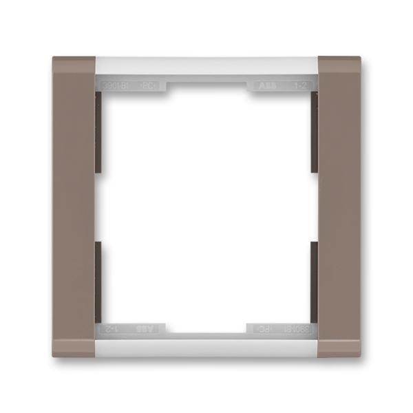 Rámček pre elektroinstalačné prístroje, jedno násobný, Time®, lungo / mliečna biela