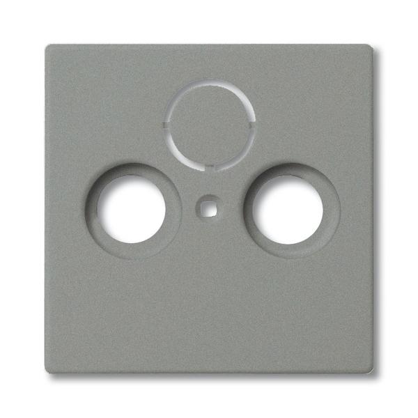 Kryt zásuvky anténnej univerzálnej s 2 (3) otvormi, Solo®, Solo® carat, metalická šedá