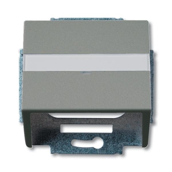 Kryt zásuvky komunikačnej s popisovým poľom, Solo®, Solo® carat, metalická šedá
