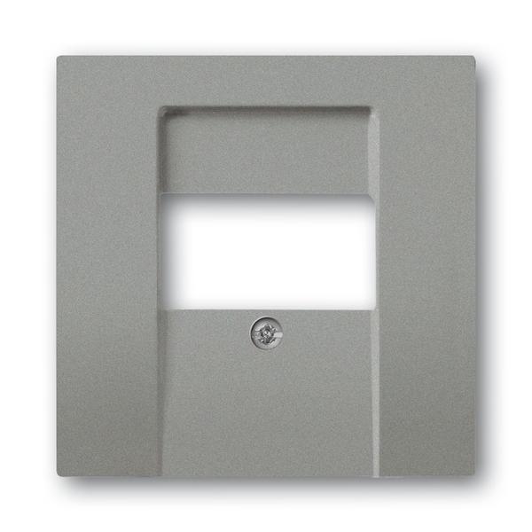 Kryt zásuvky komunikačnej priamej, Solo®, Solo® carat, metalická šedá