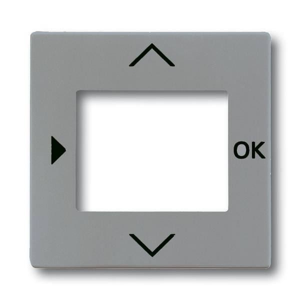Kryt ovládača časovacieho alebo termostatu, s otvorom pre displej, Solo®, Solo® carat, metalická šedá