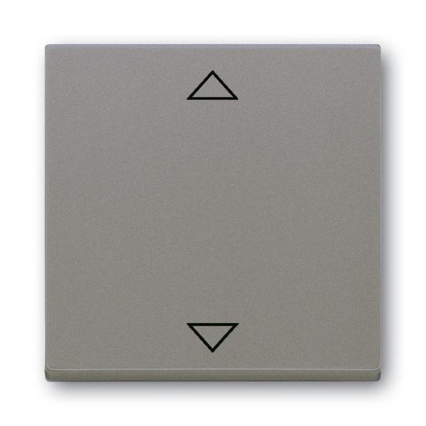 Kryt s krátkocestným ovládačom, s potlačou, Solo®, Solo® carat, metalická šedá