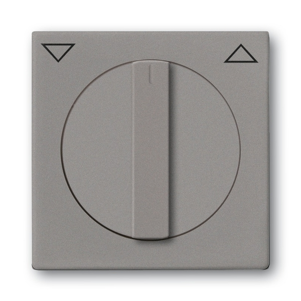 Kryt spínača žalúziového otočného s otočným ovládačom, s potlačou, Solo®, Solo® carat, metalická šedá