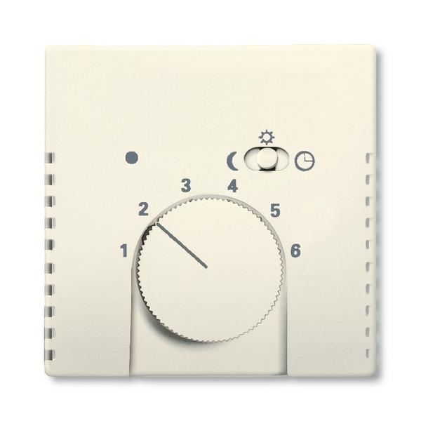 Kryt termostatu, s otočným ovládačom a posuvným prepínačom, Future® linear, Solo®, Solo® carat, slonová kosť