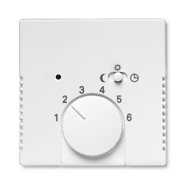 Kryt termostatu, s otočným ovládačom a posuvným prepínačom, Future® linear, Solo®, Solo® carat, štúdiová biela