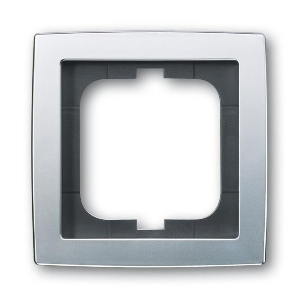 Rámček pre elektroinstalačné prístroje, jedno násobný, Solo®, chrómová